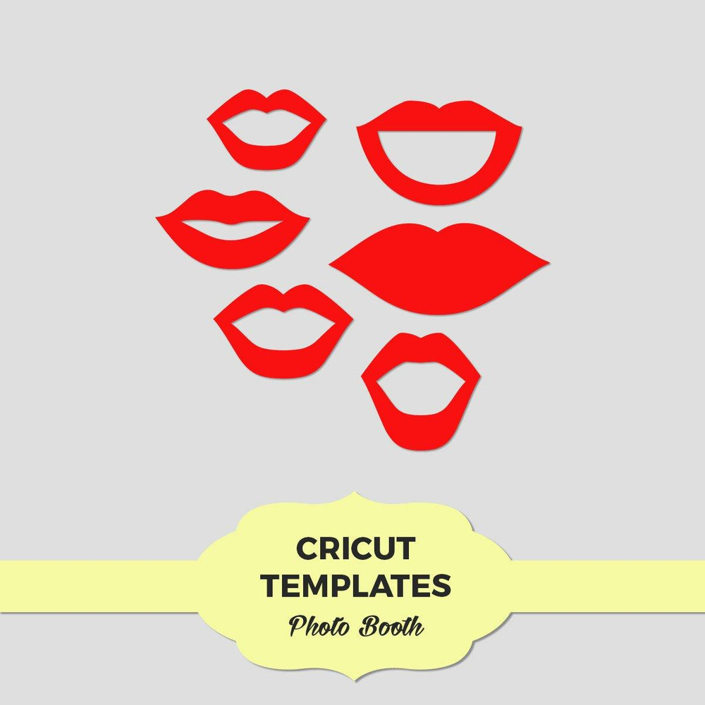 Lips Photo Booth Props Templates