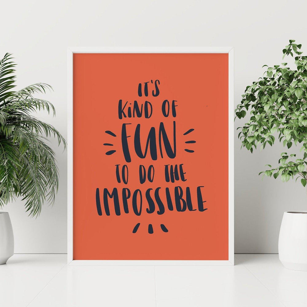 Impossible Quote Wall Art Template