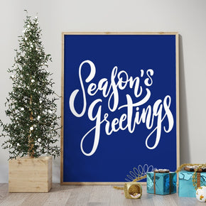 Season's Greetings Cut Template