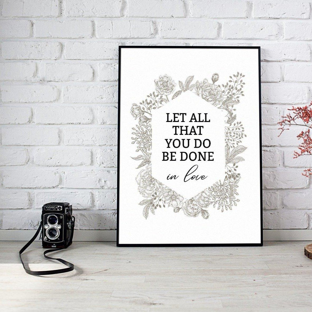 In Love  Wall Art Print Files