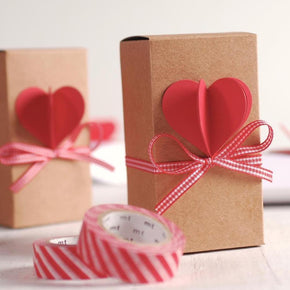Rectangle Box With Heart Topper Cut Template