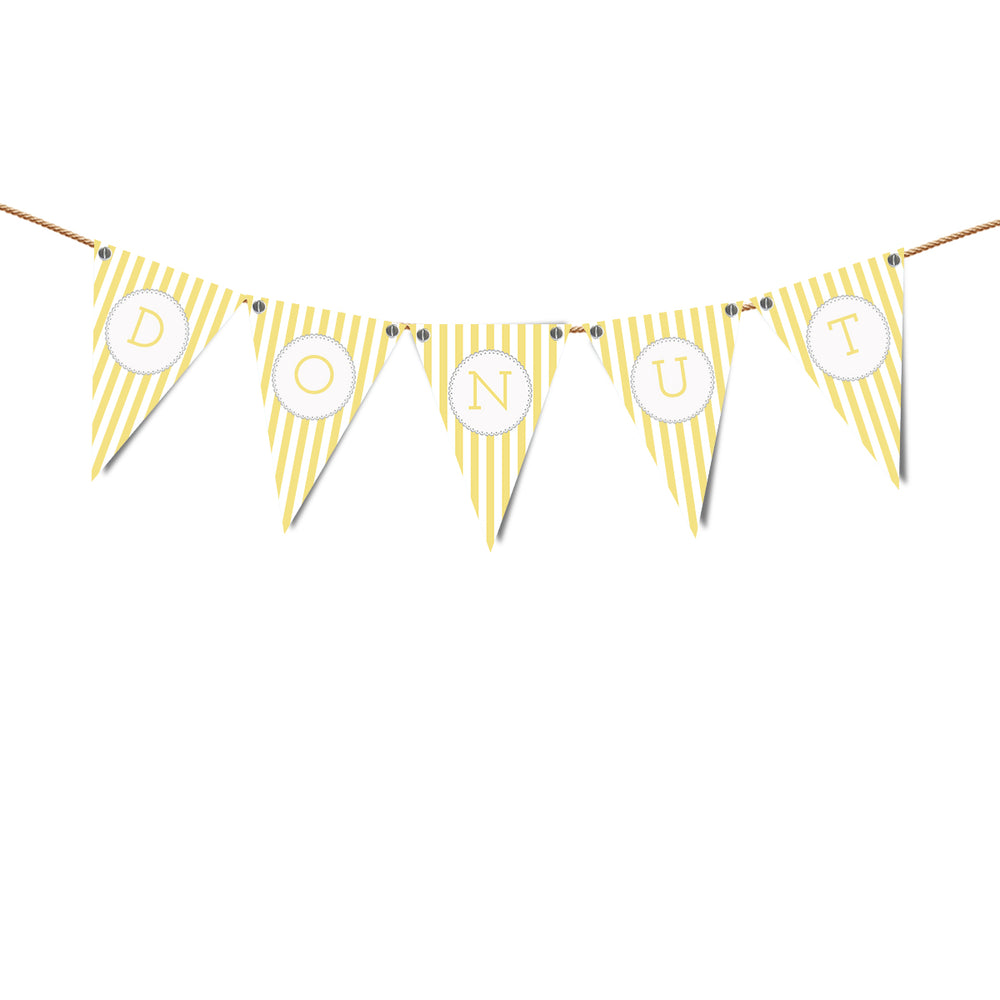 Baby Theme Alphabet  Bunting Print and Cut Template