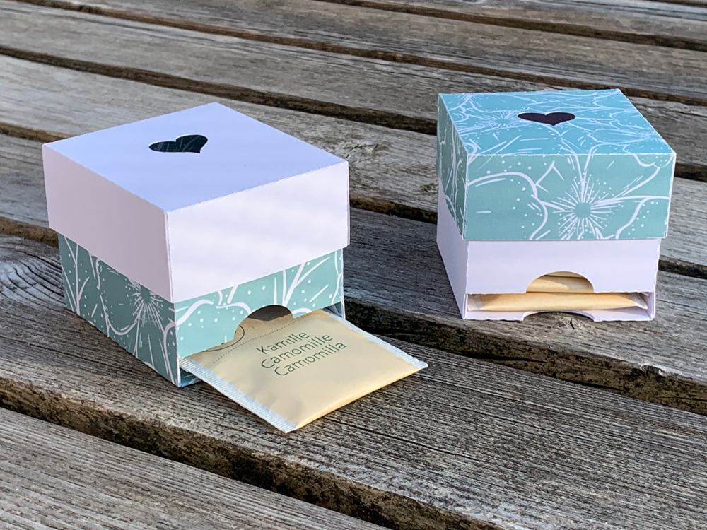 Tea Dispenser Box Cut Template