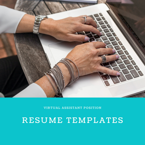 Virtual Assistant Resume Templates | Practical Digital Content