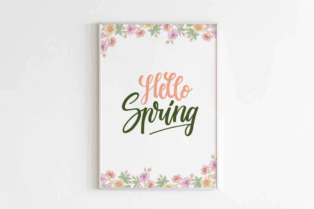 Calligraphy Spring Wall Art Printables