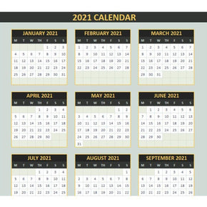 Yearly Calendar Template - Excel
