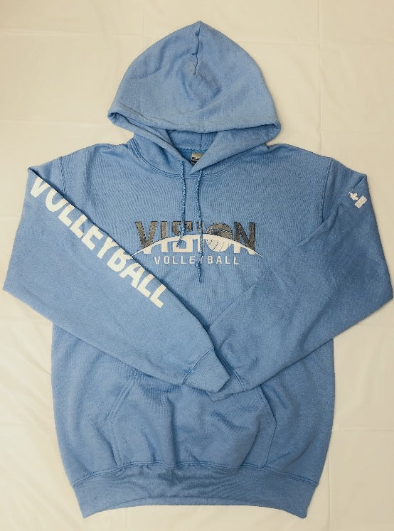 Blue VISION Volleyball Hoodie (womens)