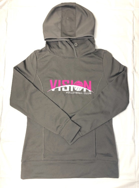 Pink/Grey Retro Women's Shell Hoodie