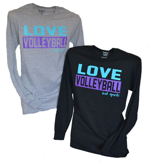 Love Volleyball Long Sleeved Shirt