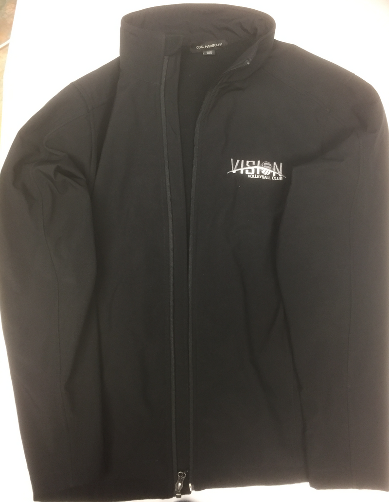 Black VISION Volleyball Club Zipper Jacket