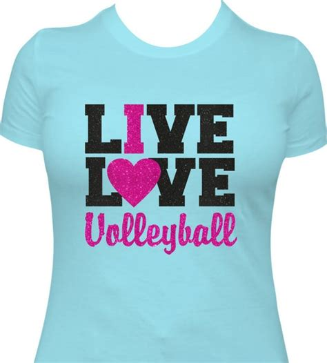 Live, Love Volleyball Ladies T-shirt