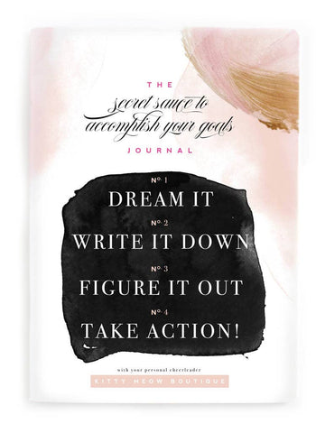 Secret Sauce & Action Plan -  Inspirational Notebook