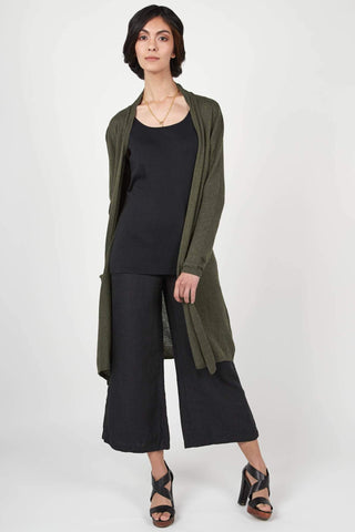 Essential Knit Cardigan - Heather Olive