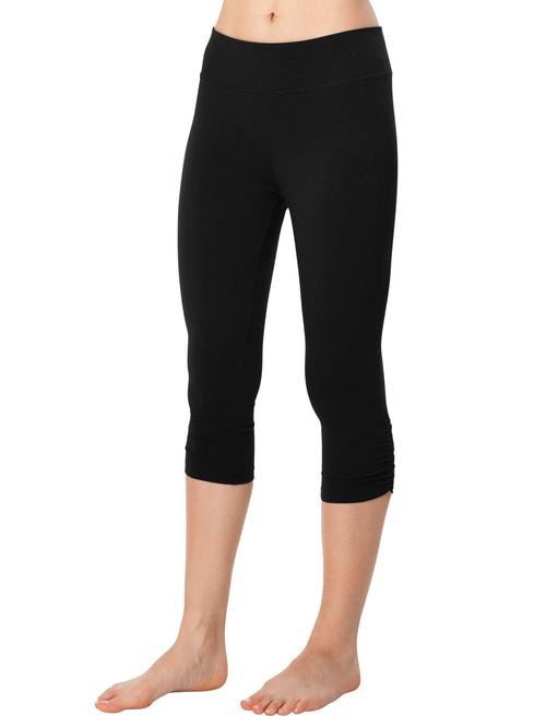 Crop Legging w/Shirring - Organic Boutique