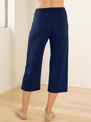 Crop Pant w/Slit - Organic Boutique
