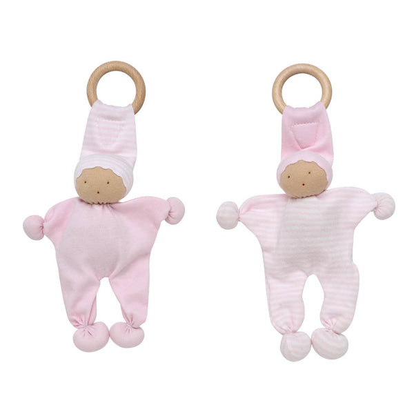 Pink Baby Buddy Teething Toy 2 Pack