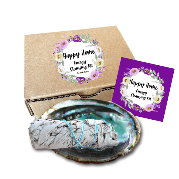 Abalone Shell and White Sage Smudge Stick  Gift Box