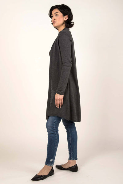 Essential Knit Cardigan - Heather Charcoal
