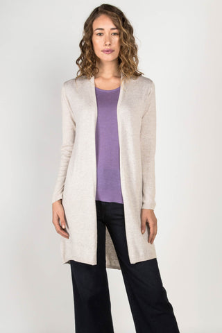 Essential Knit Cardigan - Heather Oatmeal