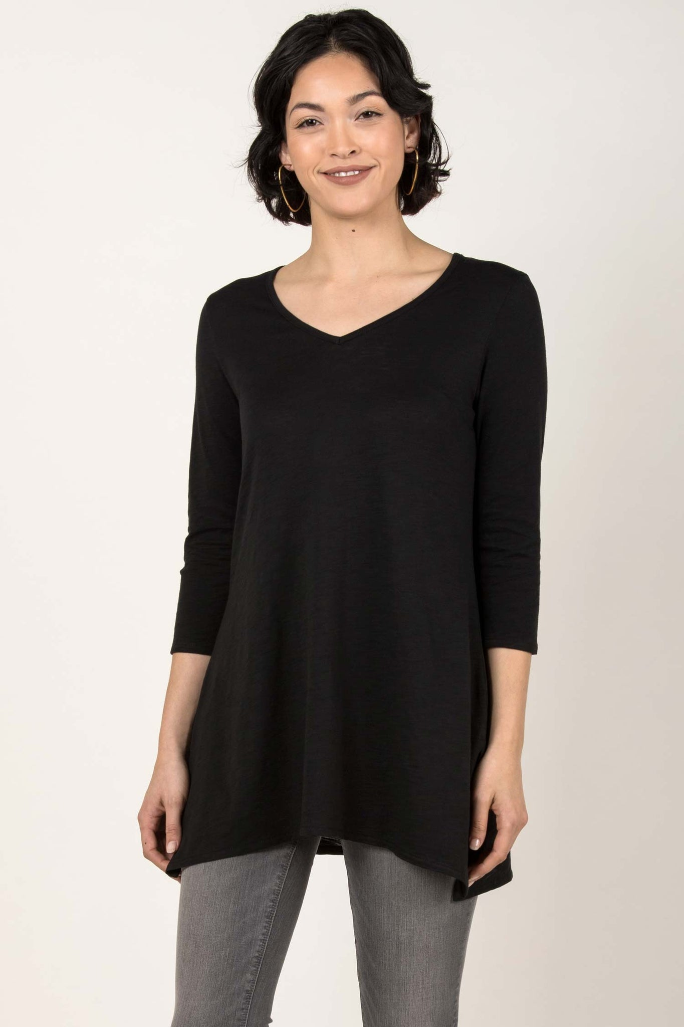 Essential Slub Tunic - Black