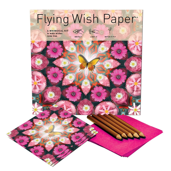 PINK BUTTERFLY / Large Kit with 50 Wishes + accessories