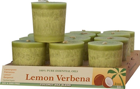 Coconut  Votive Lemon Verbna 16 Hr Burn Aloha Bay Candles