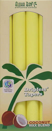 Coconut Wax Taper Candle (4) Yellow