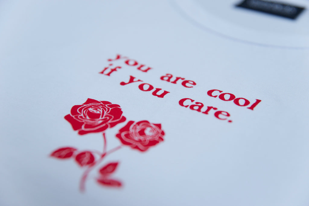ROSES CROP T-SHIRT WHT