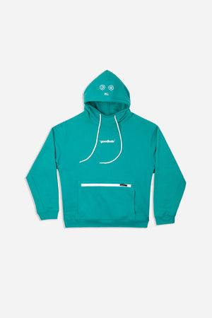 CLOUD HOODY AQUA GRN