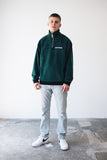 OFFICIAL FLEECE HALF ZIP CREWNECK GRN