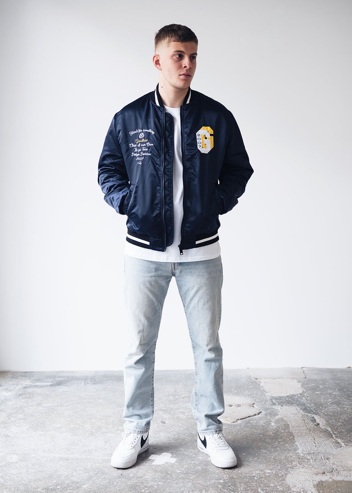 ALUMNI COLLEGE JACKET NVY