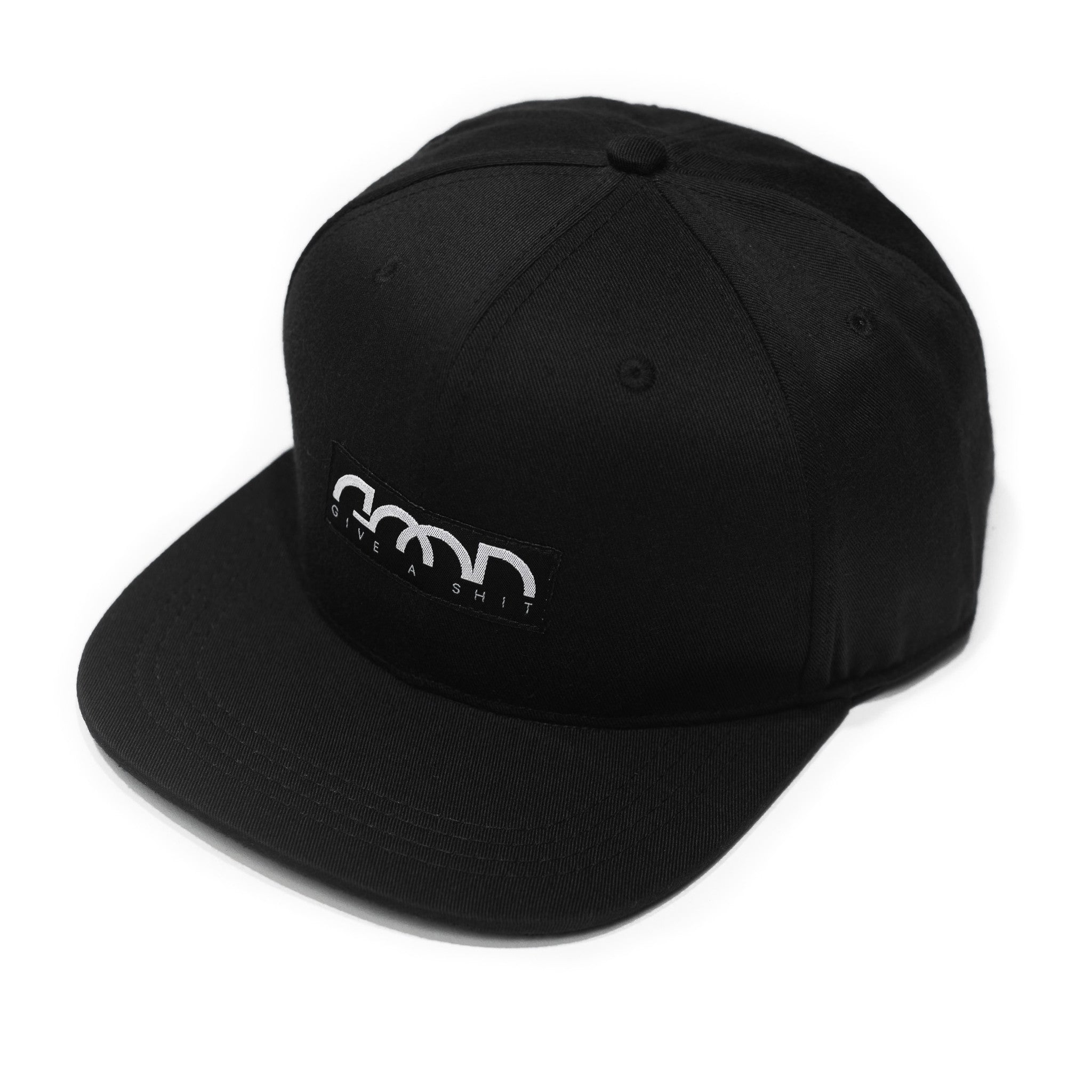 GIVE A SHIT SNAPBACK CAP BLK