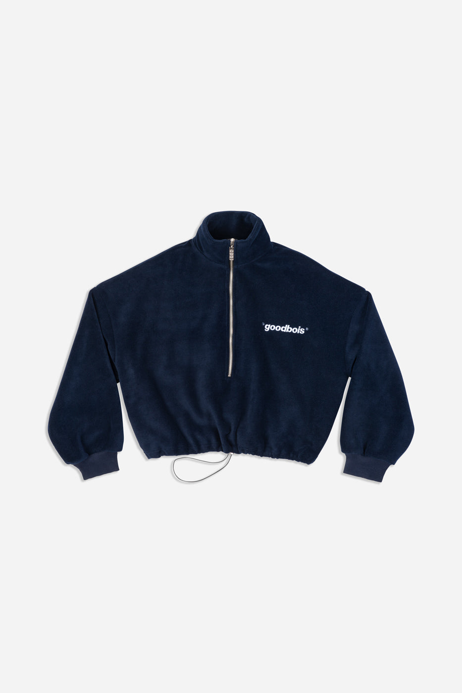 OFFICIAL FLEECE CROP HALFZIP NVY