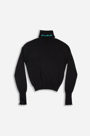 OFFICIAL TURTLENECK KNIT LONGSLEEVE BLK