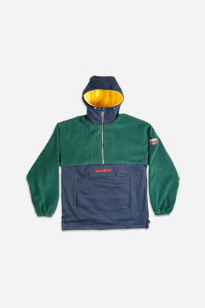 RAW FLEECE ANORAK GRN