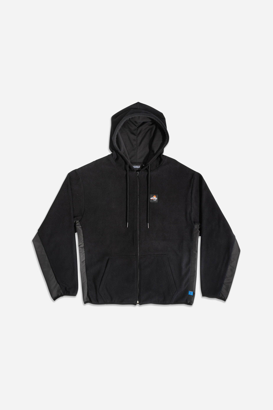 OUTDOOR SPORTS FLEECE ZIP HOODY BLK