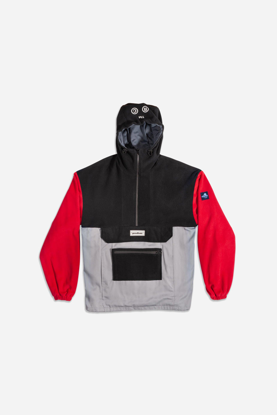 RAW FLEECE ANORAK BLK