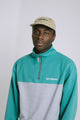 OFFICIAL BLOCK HALFZIP AQUA GRN
