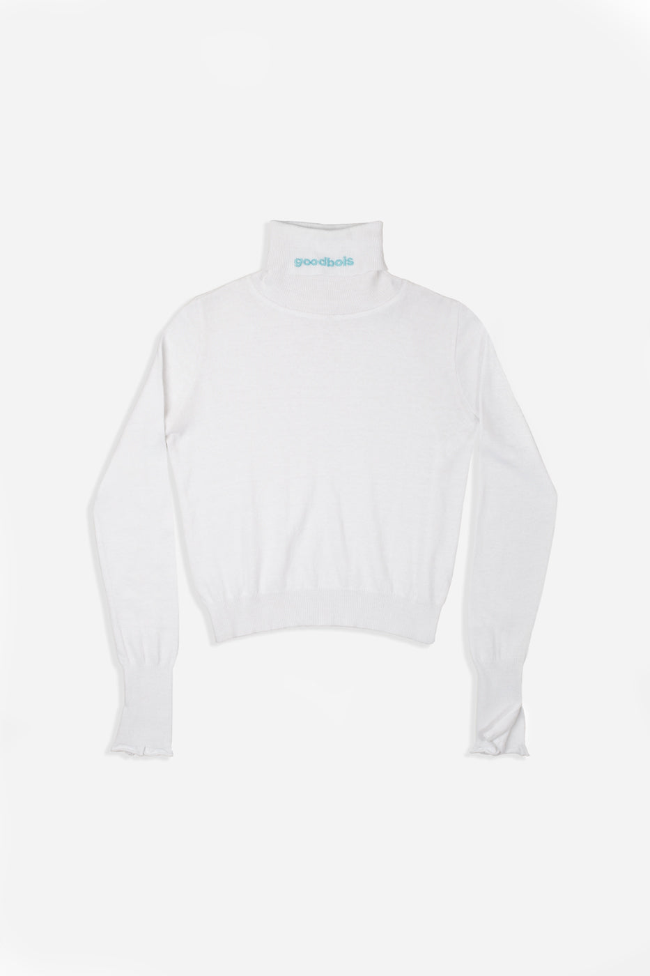 OFFICIAL TURTLENECK KNIT WHT
