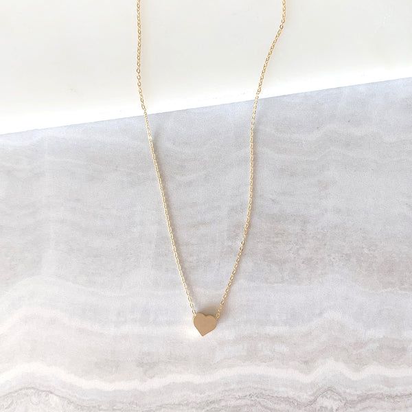 Heart Dainty Necklace in Gold