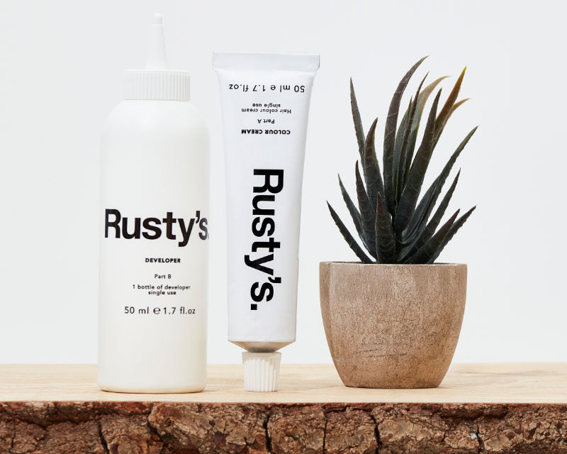 Rusty's Mens Hair Dye Tube and Bottle
