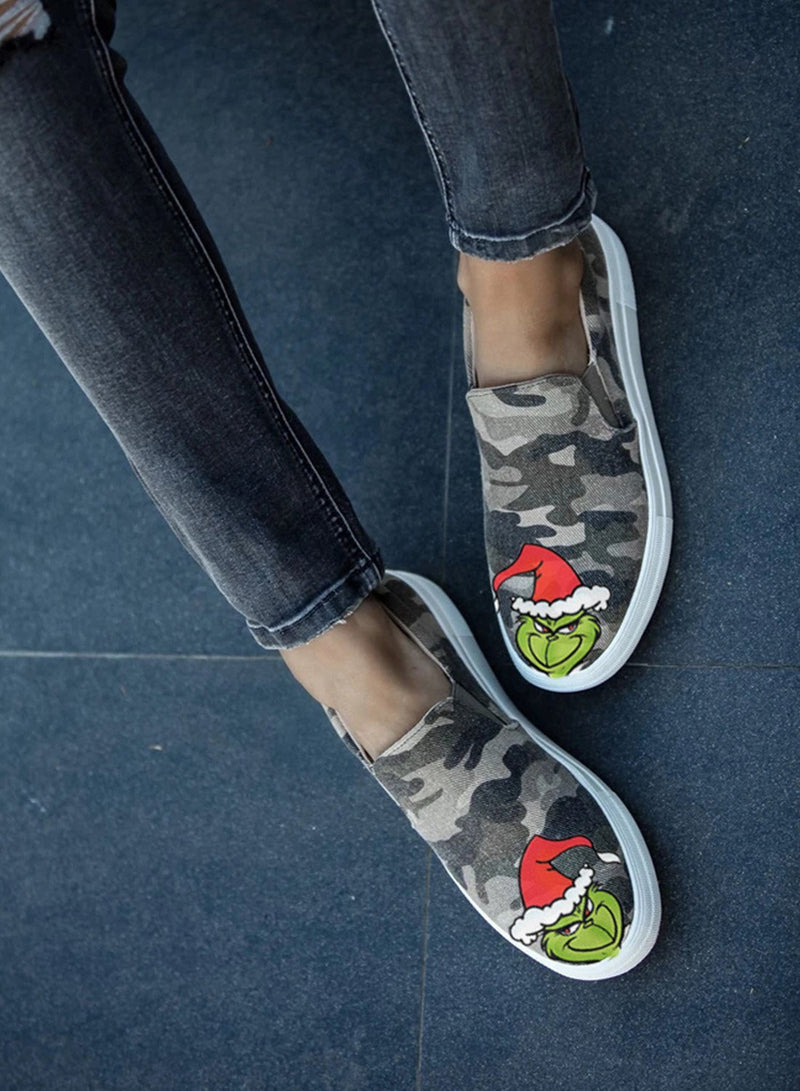 Christmas Camouflage Travel Shoes - Durrye