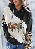 Women's Hoodies Color-block Leopard Long Sleeve Daily Casual Pocket Hoodie - Durrye