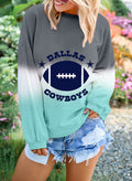 Women's Sweatshirts Round Neck Long Sleeve Color Block Letter Casual Daily Sweatshirts - Durrye