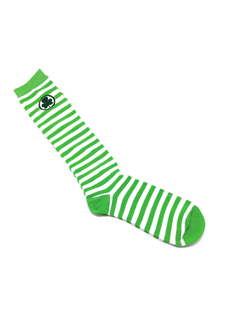Women's Socks Color Block Letter Saint Patrick's Day Cotton Socks - Durrye