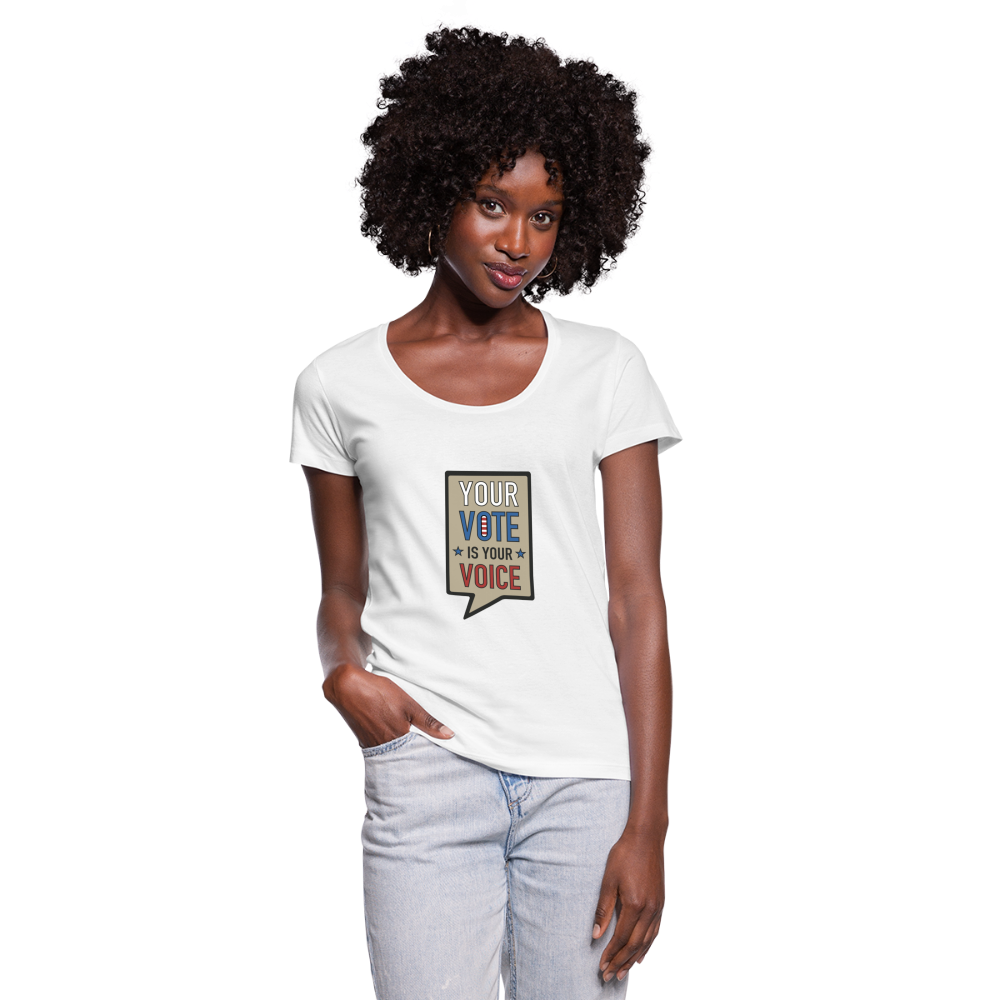 Your Vote is Your Voice - Women's Scoop Neck T-Shirt - white