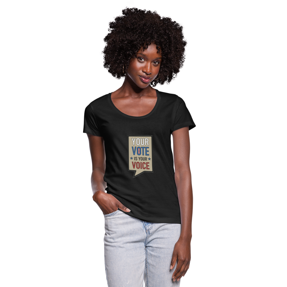 Your Vote is Your Voice - Women's Scoop Neck T-Shirt - black