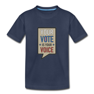 Your Vote is Your Voice - Kids' Premium T-Shirt - navy