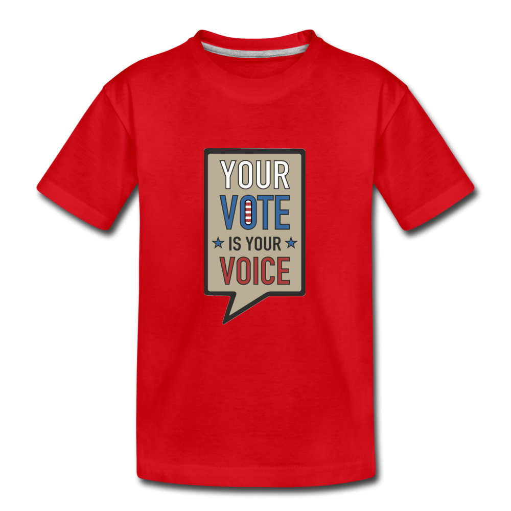 Your Vote is Your Voice - Kids' Premium T-Shirt - red