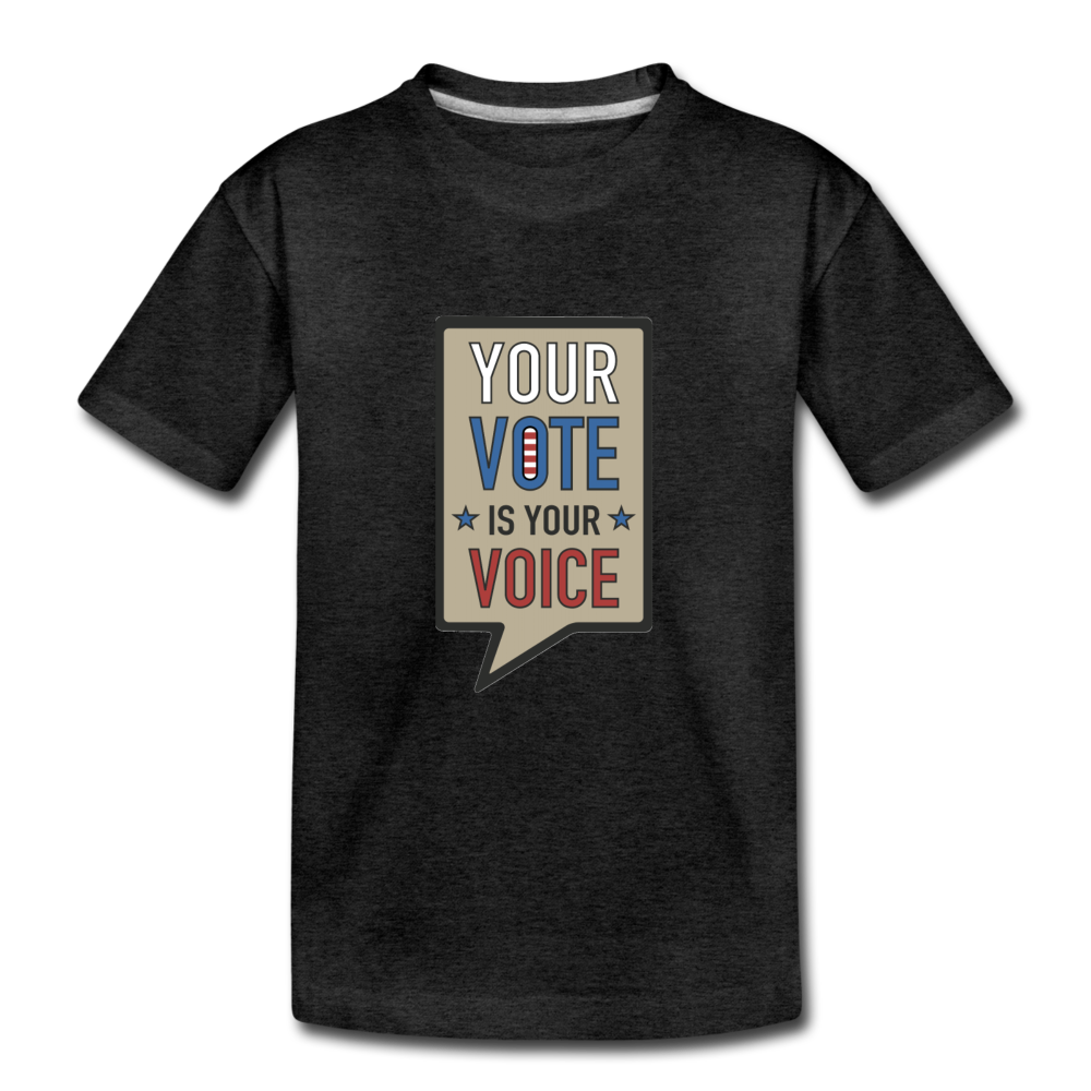 Your Vote is Your Voice - Kids' Premium T-Shirt - charcoal gray